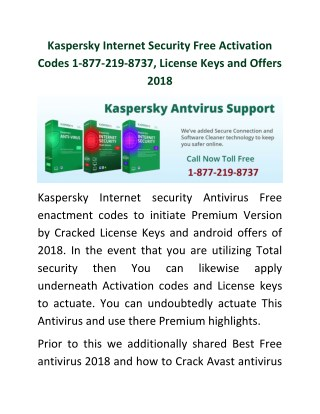 PPT - Kaspersky Internet Security Free Activation Codes 1