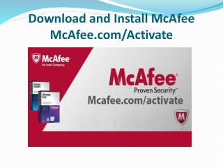McAfee.com/Activate - www.mcafee.com/activate