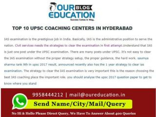 UPSC coaching academy in Hyderabad
