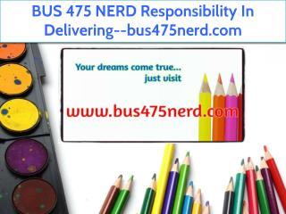 BUS 475 NERD Responsibility In Delivering--bus475nerd.com