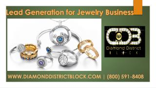 Lead generation jewelry Business