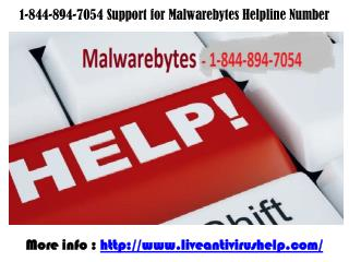1-844-894-7054  Malwarebytes Technical Support Service