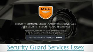 Security Guard Services in Essex