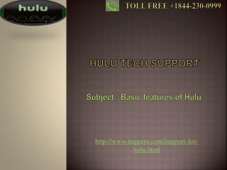 Hulu tech support