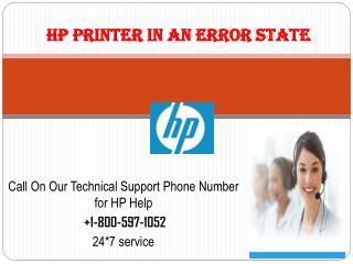 Hp Printer In An Error State  1-800-597-1052