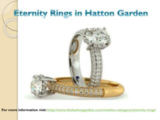 Eternity Rings in Hatton Garden Jewellery store