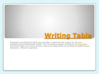 Writing Tables