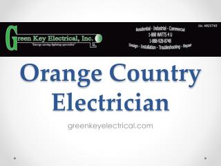 Orange Country Electrician - greenkeyelectrical.com