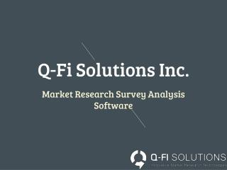 Market Research Analysis Tools