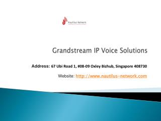Grandstream IP Voice Solutions