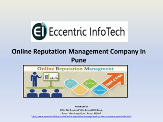 Online Reputation Management Services, Company in India - Eccentric Infotech