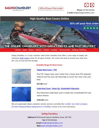 High-Quality Boat Covers Online