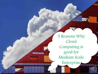5 Reasons Why Cloud Computing is good for Medium Scale Enterprise
