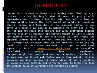 Where To Buy Thermo Burn Reviews Weight Loss Pills.