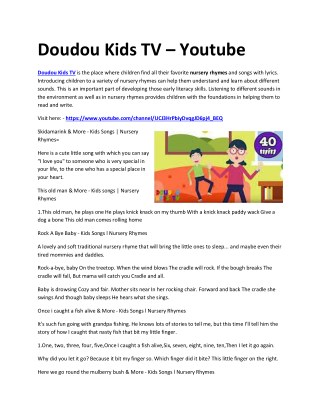 Doudou Kids TV - Youtube