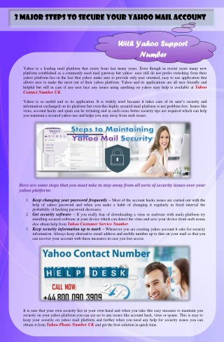 Major steps to secure your yahoo Mail Account