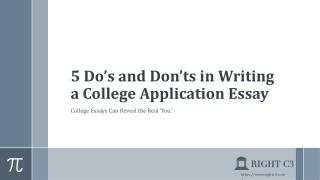 5 Do's and Don'ts in Writing a College Application Essay