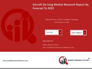 Aircraft De-Icing Market Research Report - Global Forecast To 2023