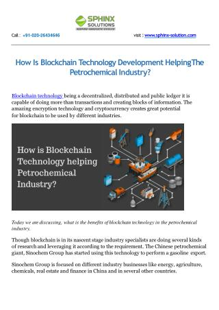 How Is Blockchain Technology Development Helping The Petrochemical Industry