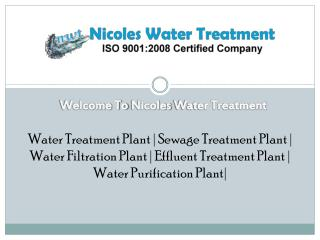 Sewage Treatment Plant In Delhi