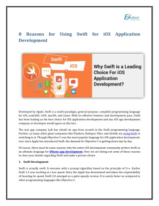 Why Is Swift a Leading Choice For iOS Application Development