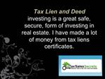 Tax Lien and Deed Investing