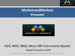 EDS, WDS, EBSD, and Micro-XRF Instruments Market worth 529.6 Million USD by 2019