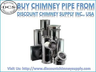 Buy best Chimney Pipe from Discount Chimney Supply Inc., Loveland, USA