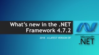What's new in the .NET Framework 4.7.2?
