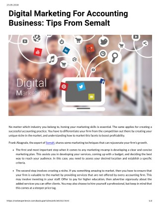 Digital Marketing For Accounting Business: Tips From Semalt