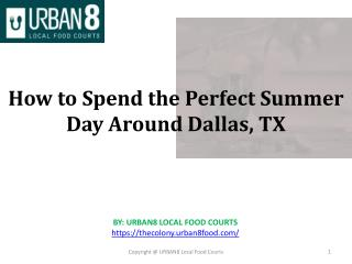 How to Spend the Perfect Summer Day Around Dallas, TX