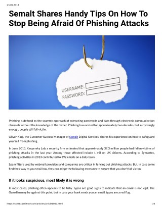 Semalt Shares Handy Tips On How To Stop Being Afraid Of Phishing Attacks