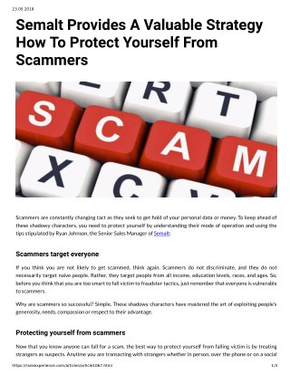Semalt Provides A Valuable Strategy How To Protect Yourself From Scammers