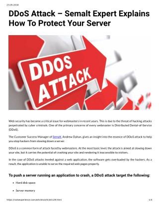 DDoS Attack – Semalt Expert Explains How To Protect Your Server