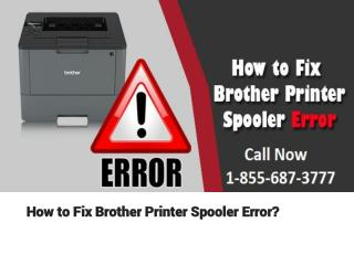 How to Fix Brother Printer Spooler Error?