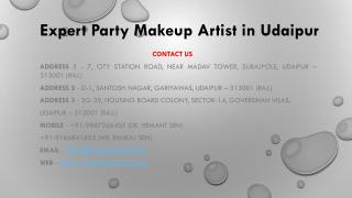 Expert party makeup artist in udaipur