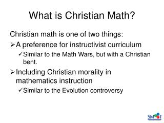 What is Christian Math?