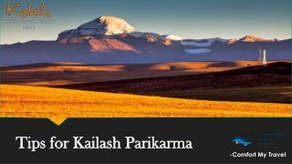 Tips for Kaliash Parikarma
