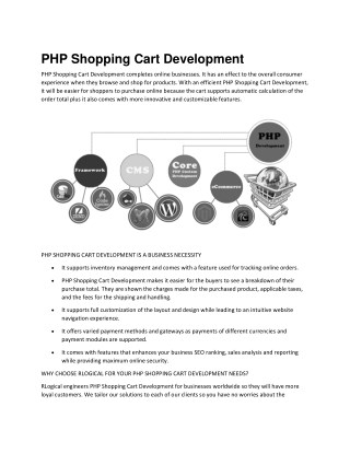 PHP Shopping Cart Development