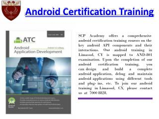 Android Certification Training