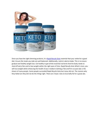 Rapid Results Keto- Improve Your Slim Body
