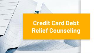 Credit Card Debt Relief Counseling