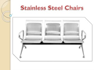 Stainless Steel 3 Seater Waiting Chair