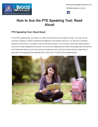 How to Ace the PTE Speaking Test: Read Aloud