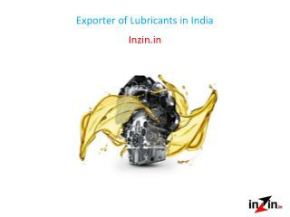 Exporter of Lubricants in India