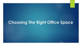Choose the right office space - Jagaha.com