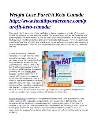 TRIAL@>> http://www.healthyorderzone.com/purefit-keto-canada/