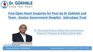 Free Open Heart Surgeries for Poor by Dr Gokhale and Team | Guntur Government Hospital | Sahrudaya Trust