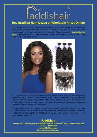 Buy Brazilian Hair Weave at Wholesale Prices Online