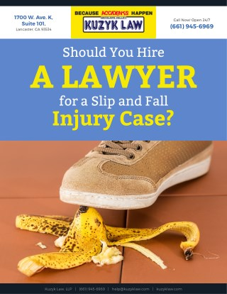 Should You Hire a Lawyer for a Slip and Fall Injury Case?